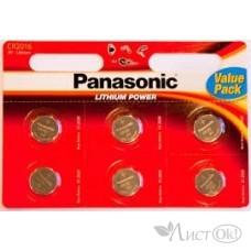 Батарейка 2016 Panasonic (6*Bl, 3V) цена за 1 ШТ Original /1 /0 /10 /0