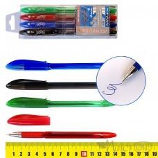 Ручки масляные EasyOffice , цветные 4цв, 0,7мм, рез.грип 5022-4 J.Otten