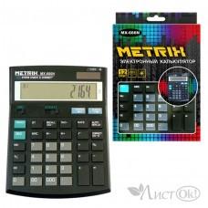 Калькулятор настольный, 12-разрядный, 2-е питание, 14х19см. MX-666N METRIX