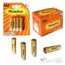 Батарейка 4076 , AAA LR03 1.5V (мизинчиковая) алкалиновая, цена за блистер 4 шт MAXDAY /12 /0 /240 /0
