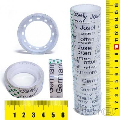 Клейкая лента упаковочная 1.2СМх10М, прозрачная, пвх J.Otten