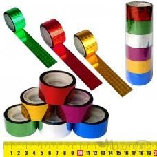Клейкая лента голография 2.4СМх15М, цвет ассорти, пвх 5527 J.Otten