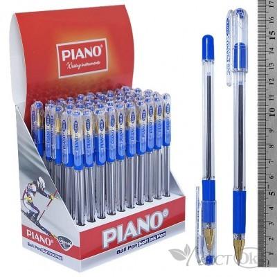 Ручка масляная , синий стержень 0,5мм, прозр.корпус Piano 205-РТ Gold PIANO