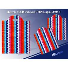 Пакет с прорубной ручкой Волна, 35*48см, целлофан 6030-3 J.Otten