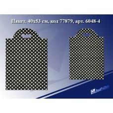 Пакет с прорубной ручкой В горошек, 40*53см, целлофан 6048-4 J.Otten