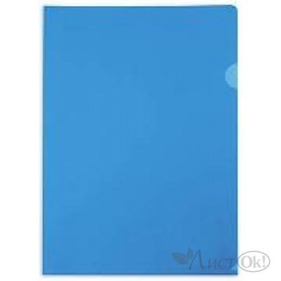 Папка-уголок А4 прозр., (0,15мм), прозр. синяя AGp_04202 Hatber