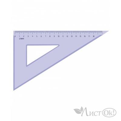 Треугольник 30°х18 см пластик, тонир серый ТК49 Стамм