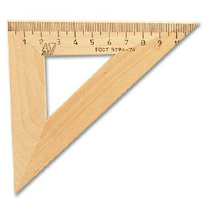 Треугольник деревянный 45°х11см С138 Можга