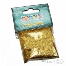 Блестки декор. Декола 0,3мм золото Майа W041-203-0,3 ЗХК