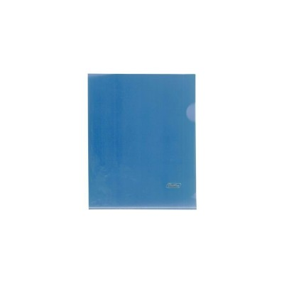 Папка-уголок А5 пластик. синяя (0,18мм) AG5_00102 Hatber