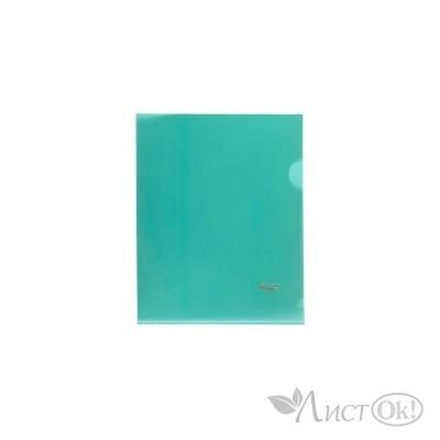 Папка-уголок А5 пластик. зеленая (0,18мм) AG5_00104 Hatber