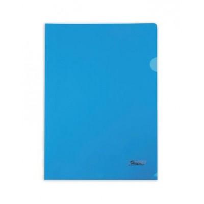 Папка-уголок А4 пластик. синяя (0,18мм) AG4_00102 Hatber