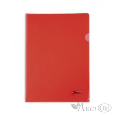 Папка-уголок А4 пластик. красная (0,18мм) AG4_00103 Hatber