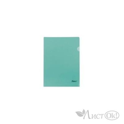 Папка-уголок А4 пластик. зеленая (0,18мм) AG4_00104 Hatber