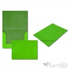 Папка на резинке зелёная, А4, картон 5037-1 J.Otten