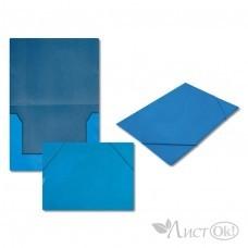 Папка на резинке голубая, А4, картон 5037-2 J.Otten
