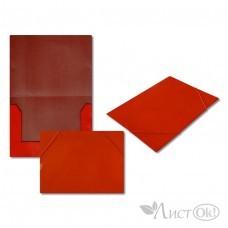 Папка на резинке красная, А4, картон 5037-3 J.Otten