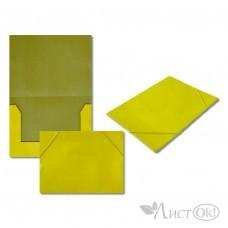 Папка на резинке желтая, А4, картон 5037-4 J.Otten
