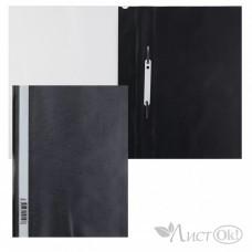Папка-скоросш. 140/180мкм AS4_00101 А4 прозр. верх. лист черная Hatber /10 /0 /400 /0