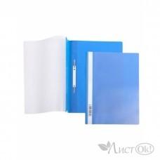 Папка-скоросш. 140/180мкм AS4_00102 А4 прозр. верх. лист синяя Hatber /10 /0 /400 /0