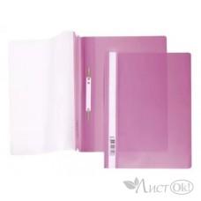 Папка-скоросш. 140/180мкм AS4_00112 А4 прозр. верх. лист розовая Hatber /10 /0 /400 /0