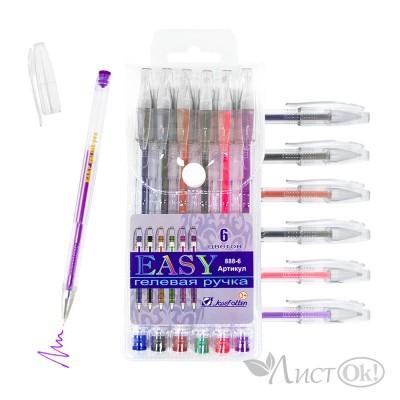 Ручки гелевые 888-6 EASY 6 цв, европ J.Otten /24 /0 /144 /0