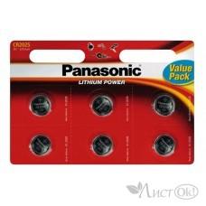 Батарейка 2025 Panasonic (6*Bl, 3V) цена за 1шт (Original) Power Cells 5925*000343