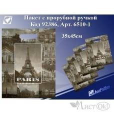 Пакет с прорубной ручкой Paris, 35*45см, целлофан 6510-1 J.Otten