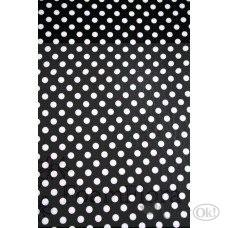 Фоамиран лист 40*60 Черный горох на бел. фоне DOT-CL-008 Волшебный мастер /0 /0 /0 /0