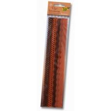 Набор бордюров из фетра декоративных, 2 мотива, 4 шт/уп, оттенки коричневый 52195 Folia