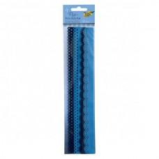 Набор бордюров из фетра декоративных, 2 мотива, 4 шт/уп, оттенки синего 52193 Folia