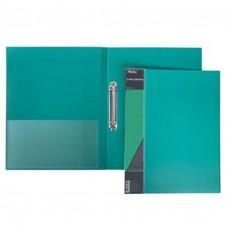Папка на 2-х кольцах 25мм А4 STANDARD зеленая+карман 2АВ4_00107 Hatber