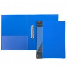 Папка на 2-х кольцах 25мм А4 STANDARD синяя+карман 2АВ4_00109 Hatber