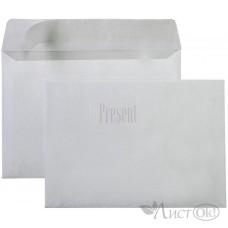 Конверт 114х162мм С6 отр. лента, белый, серая запечатка 70103 KurtStrip
