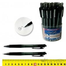 Ручка масляная Easy Office 296M черный стержень 0,7мм, автомат, рез.грип /30 /0 /1200 /0